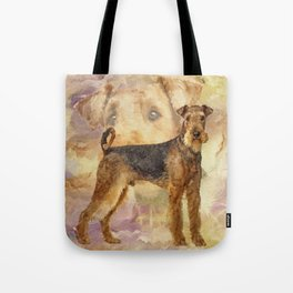 Airedale Terriers Mixed Media Digital art Tote Bag