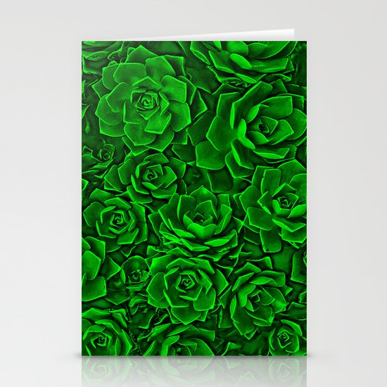 Succulent Green Stationery Cards