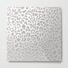 Silver Leopard Metal Print