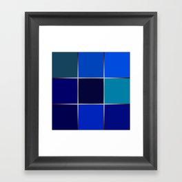 Cobalt , patchwork Framed Art Print