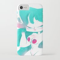 pinup iPhone & iPod Cases featuring Blue pinup by MissPaty