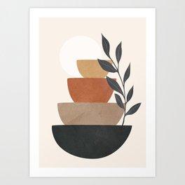 Branch and Balancing Elements Art Print