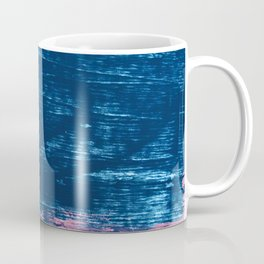 Early Bird [2]: A vibrant minimal abstract piece in blues and pink by Alyssa Hamilton Art Coffee Mug