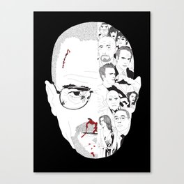 Breaking Bad: Walter White broken down Canvas Print