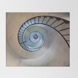Spiral staircase Throw Blanket