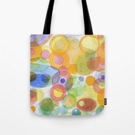Vividly interacting Circles Ovals and Free Shapes Tote Bag