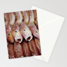 Lined Fish Stationery Cards