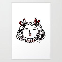 Ms. Red Art Print