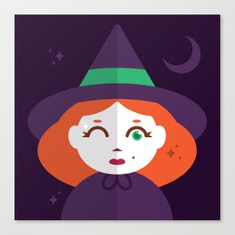 A Young Witch with Just a Wink of Magic Canvas Print