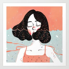 Drowning in Thoughts Art Print