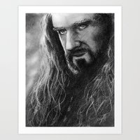 thorin Art Prints featuring Thorin by AnastasiumArt