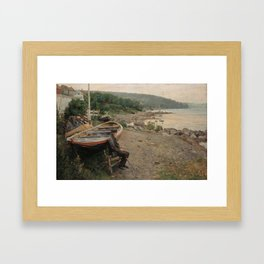 Hans Heyerdahl - View from Åsgårdstrand Framed Art Print