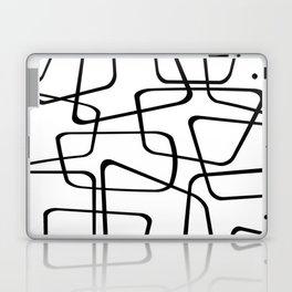 Mid Century Black And White Pattern Laptop & iPad Skin