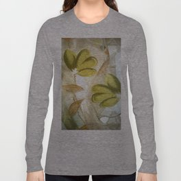 textile / flower / green  Long Sleeve T-shirt