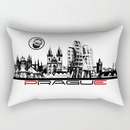 Prague black and white Rectangular Pillow
