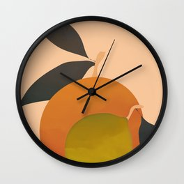 An Orange and a Lemon Wall Clock