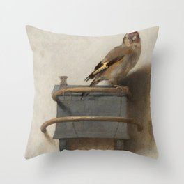 THE GOLDFINCH - CAREL FABRITIUS Throw Pillow