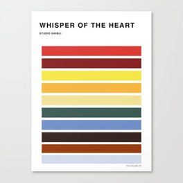 The colors of - Whisper of the heart Canvas Print