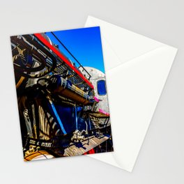 Vintage Steam Engine Locomotive And Blue Sky Stationery Cards