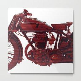 Red motorcycle lines Metal Print