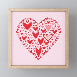 Love concept of hearts in the shape of a heart Framed Mini Art Print