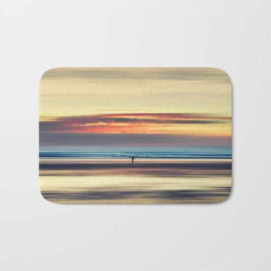 Along Memory Lines - Abstract Seascape Bath Mat