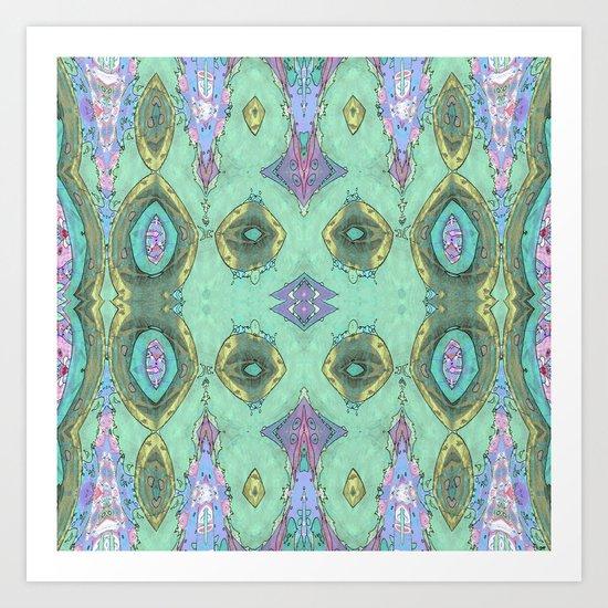 Fancy Teal Art Print