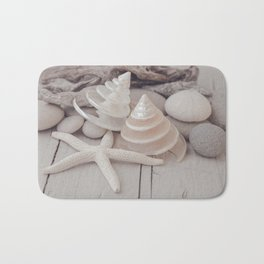 Beach Still Life With Shells And Starfish Bath Mat