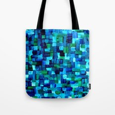 Abstract Tiles of Blue and Green Tote Bag
