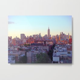 Empire State Building and the New York Skyline Metal Print
