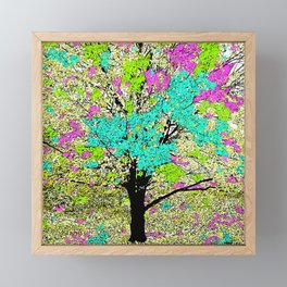 TREES PINK AND GREEN ABSTRACT Framed Mini Art Print