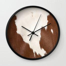 Brown Cowhide v4 Wall Clock
