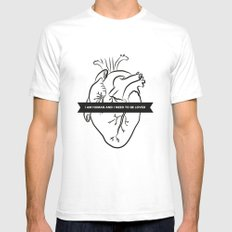 I Am Human & I Need to be Loved Mens Fitted Tee White SMALL