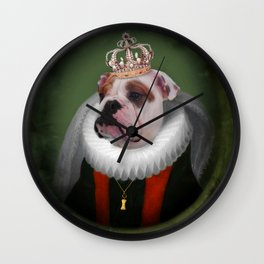 English Bulldog Art - Lucy Wall Clock