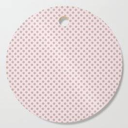Taupe Polka Dots on Pink Cutting Board
