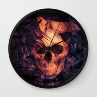 mortal instruments Wall Clocks featuring Mortal Sin by Sirenphotos