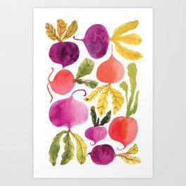 Veggies for lunch Art Print