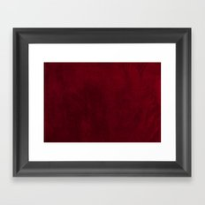 VELVET DESIGN - red, dark, burgundy Framed Art Print