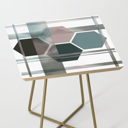 Green Geometric Side Table