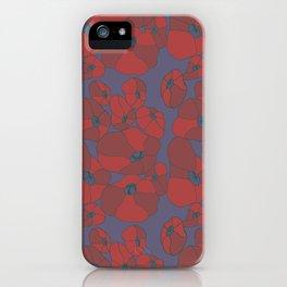 Mauve Poppies iPhone Case