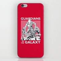 guardians of the galaxy iPhone & iPod Skins featuring Guardians by LilloKaRillo
