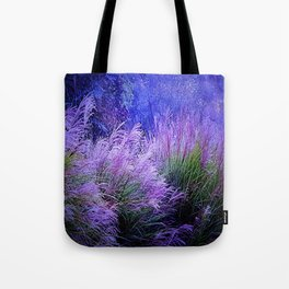 Purple long grass Tote Bag