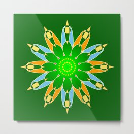 Green abstract explosion Metal Print