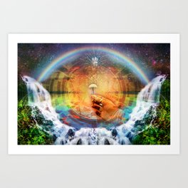 Sacred Mushroom - Hana Rainforest Maui, Hawaii Art Print