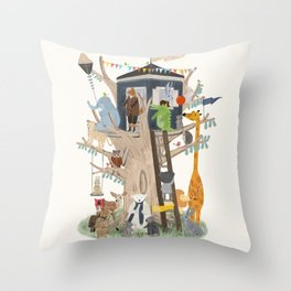 little playhouse Throw Pillow