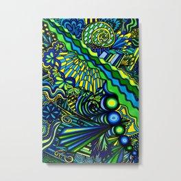 Blue, Yellow, Green Metal Print