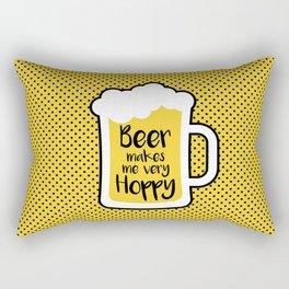 Beer Makes Me Hoppy Rectangular Pillow