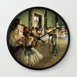 The Dancing Class 1874 By Edgar Degas | Reproduction | Famous French Painter Wall Clock