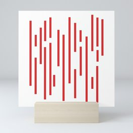 Minimalist Lines – Red Mini Art Print