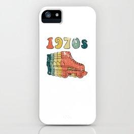 70s Roller Skates Derby Disco Retro Vintage Skating iPhone Case